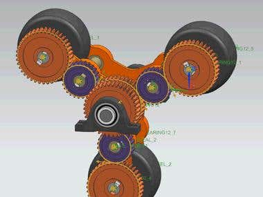 this is the video of gear box used in stair climbing robot