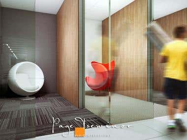 Here are interior renderings I produced for my winning entries in a freelance competition.