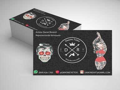 Tarjeta diseño tattoo