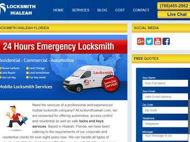 Site : http://www.locksmithialeah.com/  Keywords in 1st Position & Top 10 in Google.com  automotive locksmith Hialeah = 5 Lost/Broken key replacement Hialeah = 4 Locked keys in car Hialeah = 1 car key replacement Hialeah FL = 4 lost car key made Hialeah FL = 3 ignition repair service Hialeah = 4 house lockout Hialeah FL = 1  Boost your business with dedicated SEO campaign. Request FREE SEO audit of your website.