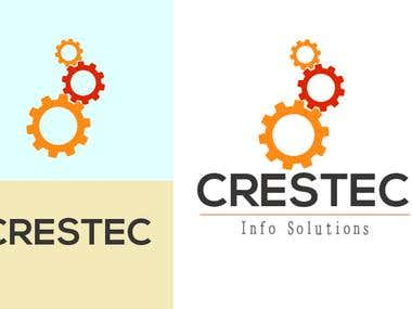 created this logo for company called CRESTEC