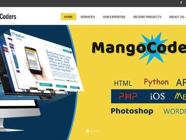 This is our company website portraying our technical skillset,workflow. Link to visit:  http://www.mangocoders.com/