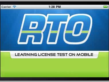 RTO Driving Test simulates the test every candidate has to pass to obtain the learners permit. The application would create a test based on questions stored in local database. The app also provided an module to learn various rules through mobiles and also provided an interface to understand various road signs and safety rules.