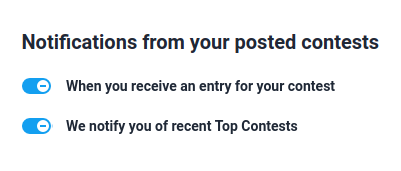 Contest notifications