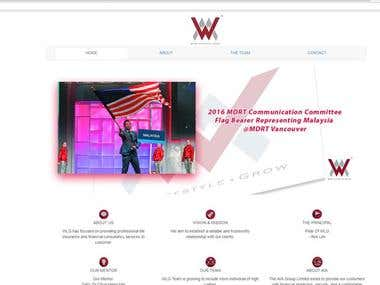 WLG website (WealthLink Agency) ; The agency who sell the professional life insurance for the clients.