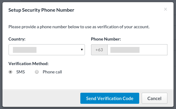 Setting up a security phone number | Perfil | Freelancer Support