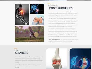Website design and development for Joint Surgery