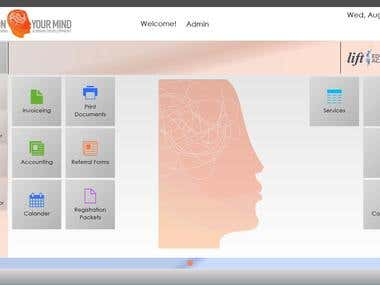 This is a custom built Psychologist application for their office.