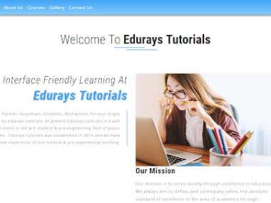 At present Edurays tutorials is a well known name in the pre-medical & pre-engineering field of Jaipur zone . Edurays tutorials was established in 2014 and we have vast experience of pre-medical & pre-engineering teaching. Mission is to serve society through excellence in education. We always aim to define, and continually refine, the absolute standard of excellence in the area of academics through–  Teaching Methodology The efficiency of our methodologies and systems Truthfulness towards students, parent, society and nation E – learning course – online test series, video lecture The quality of education we provide For More Kindly Visit Full Website: http://www.eduraystutorials.in/