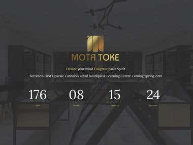 https://www.motatoke.com - Responsive web design - Coming soon page