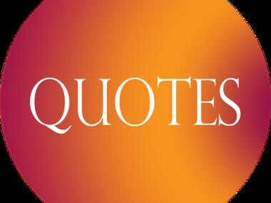 """Application """"Quotes"""" Provides Different Type of Quotes Categories and Author wise"""