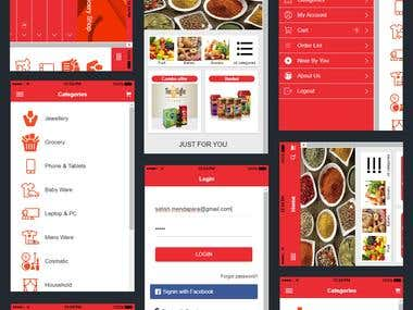 Online Grocery Selling Mobile application Developed. We added functionality to deliver Grocery on COD and PAYPAL payment option to make online payment. Also Add to track your order of delivery from application. Following Points we added in this application: - Social media Login - Push Notification - Shop by Category - Cart Option - Online Payment - Track Shipment - Etc.