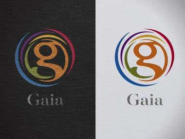 Logo type symbol created for GAIA an industrial psychology consultation firm.