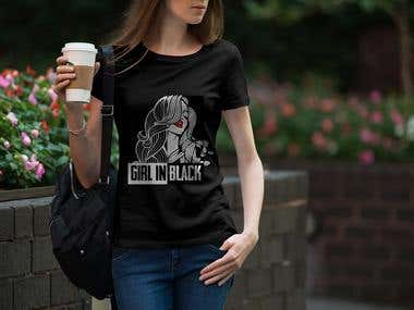 """Our Beautiful T-shirt design for our australian Based client with the brand name of """"Girl In"""""""