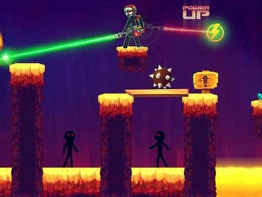 Link to GooglePlay Store : https://play.google.com/store/apps/details?id=com.gzl.stickman.adventure.game&hl=en  Stickman vs Stickman: Stickman Games ( With Stickgirl addition )  The Knights Pvt Ltd welcomes you in real puzzle based stickman shooting games! Make strategy first and then shoot and become shooting games master! Stickman shooting games is the most addictive shooting and targeting 2d games of 2018. Stickman games is a fantastic action game.