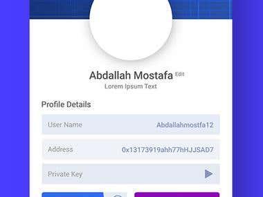 App screen for CryptoVault