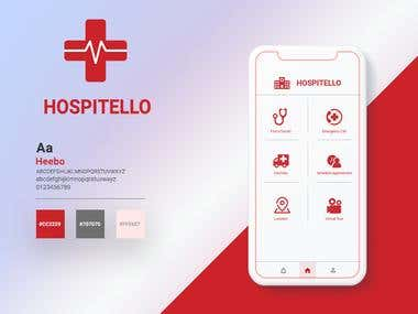 Hospitello , a hospital management application to manage the following activity at the hospital 1. appointment management 2. doctors listing 3. doctors profile 4. doctors and OPD scheduling 5. hospital facilities 6. virtual tour 7. emergency call 8. book an appointment 9. location and maps  the application is equipped with web based admin panel where appointment and users can be managed by the hospital.