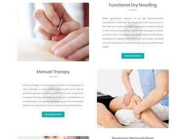 HTML website with mobile responsive. Live URL http://fullrangephysio.ca/