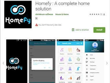 https://play.google.com/store/apps/details?id=shrinkcom.user.homefy&hl=en  This app will help customers to find Nearby Home Service providers Like Electrician, House Cleaner, Carpenters,Plumbers, etc.