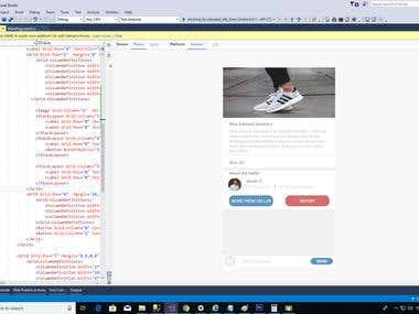 First Image is how we receive the Sketchs in Photoshop  Second Image show our implementation in Xamarin Forms  Note: This is to show the high accuracy we can achieve coding in XAML designs received from professional designers