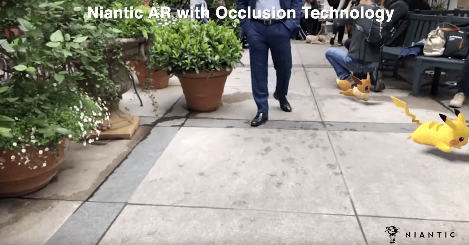 Niantic AR with occlusion technology - nianticlabs.com