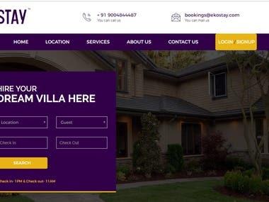 real estate booking website