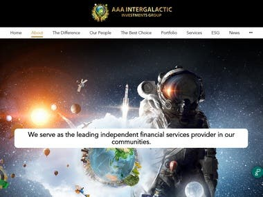 https://aaa-intergalactic-investments.com/  This  is to promote a fair funding system enabling industrialisation and a better socioeconomic future for the youth. This includes among other opportunities, green intergalactic and interplanetary solutions, artificial intelligence, smart cities, logistics, agriculture and renewable energy while promoting the eradication of poverty on planet Earth, especially in Africa, the cradle of humanity.