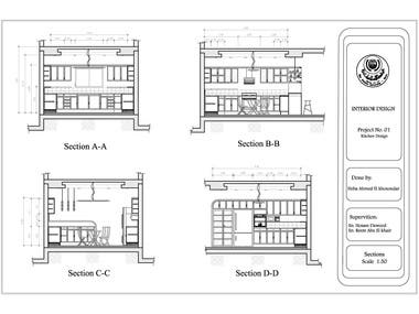 architectural drawings (plans) for kitchen design