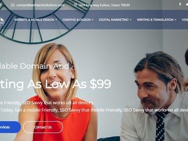 Website for job service provider.