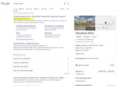 My client ranking #1 in Google