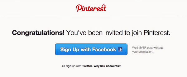 growth hacking pinterest invitation only