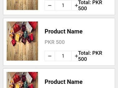This is a eCommerce app design