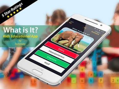 Game targeted for Kids designed and developed by TechMelo