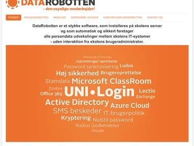 I implemented a multi-tenancy password portal for private schools in Denmark, for students to change passwords, update phone number and email address and to accept the terms and conditions for using the school IT platform. The portal has password reset features that propagates changes to local RADIUS and Active Directory servers. Forgot password integrates both to an SMS gateway and to Recaptcha validation. Teachers can also log in and send bulk SMS to classes or specific students.