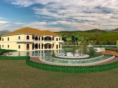House landscaping project in the  Dominican  Republic