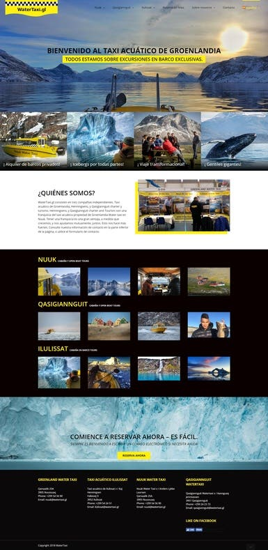 Water Taxi Company - Website Design