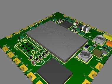 The module has GSM/GPS features with 3D digital linear acceleration sensor, a 3D digital angular rate sensor, and a 3D digital magnetic sensor