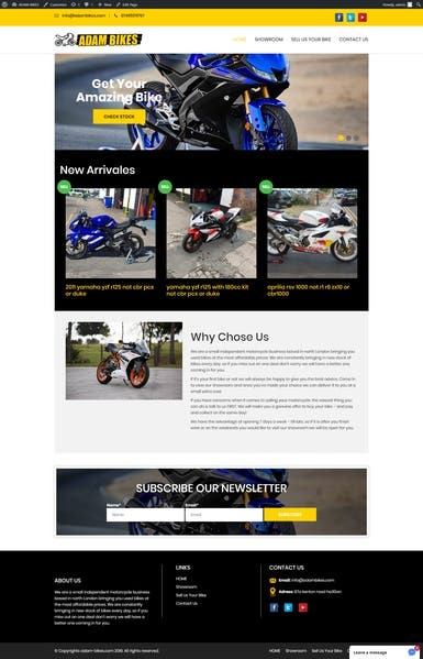 Bike Company - Website Design