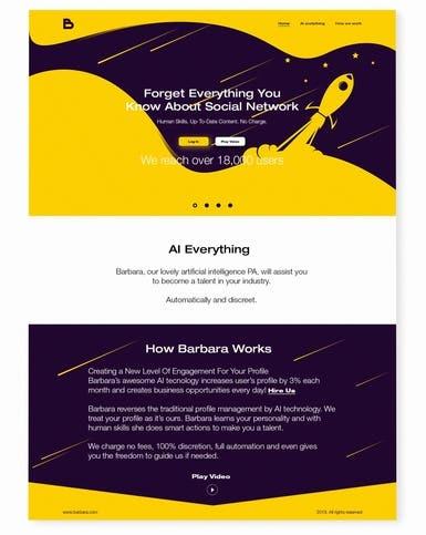Barbara - Landing Page Design