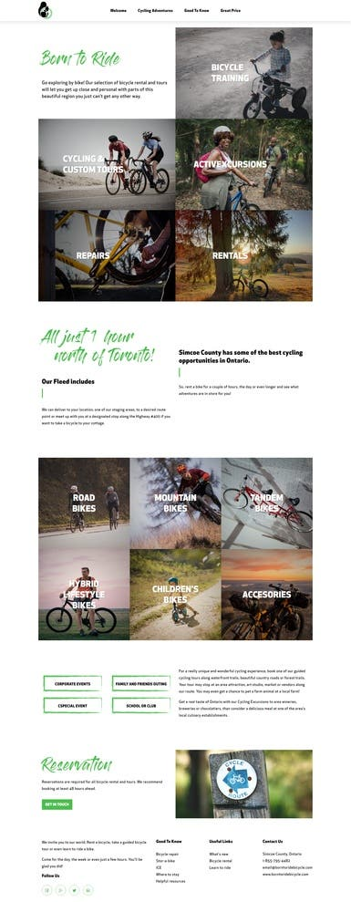 Born to Ride - Website Design