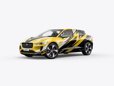 Jaguar ipace wrap design