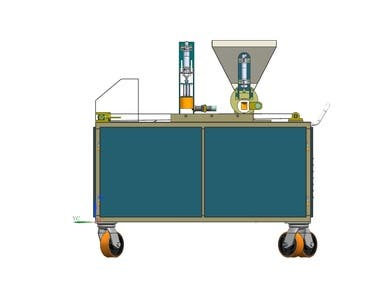this machine is used for the sweet manufacturing . this machine can produce 2500 numbers of sweet per hour. whole machine is easy to clean and easy to operate.we also manufacture this machine.