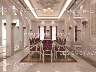This is one of many villa project i design and finish in Saudi Arabia, this is completed as whole, from ground floor to upper floor, and all finishing including exterior