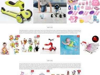 Kids Toys is developed in Shopify. It is a Dropshipping Site.