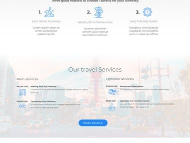 Built 6 pages responsive HTML website  from Zeplin/Sketch Design using bootstrap 4 Including mobile and web view. Tabiwiz website PSD to HTML/Bootstrap. https://www.tabiwiz.com/