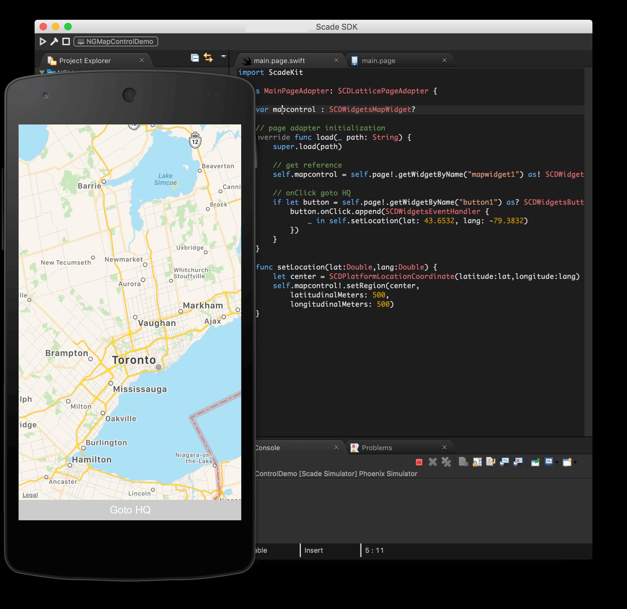 scade native app development