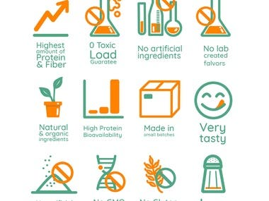 Vector Icon sets for different purposes.