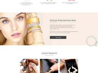 A simple home page for a jeweler house. This site is fully responsive and pixel perfect.
