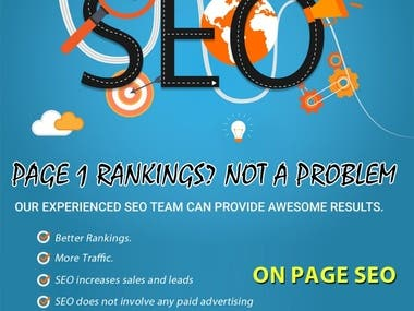 I will perform complete search engine optimization both on site, off site SEO for your website using white hat method to improve website search engine visibility.  I will do complete on-page optimization according to our target keywords and will do all the on-site changes. I will create back-links using white hat link building and will send you every week weekly SEO progress report.