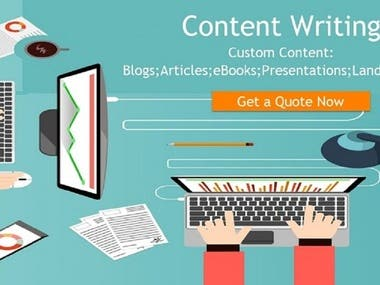 All types of writing like Content writing , Article writing , Ghost writing<, Description Writing ,etc.